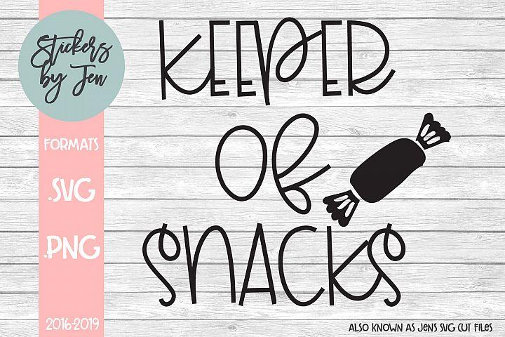 Keeper of Snacks SVG Cut File