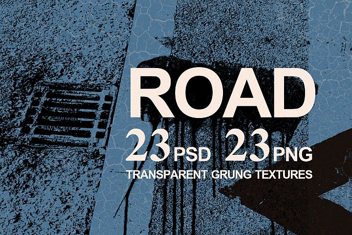 Road 23 Transparent Grunge Textures