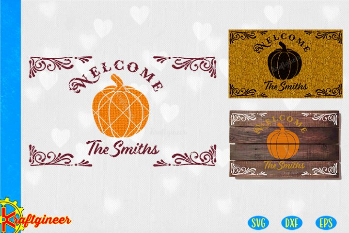 Welcome Pumpkin SVG | FarmhouseSVG