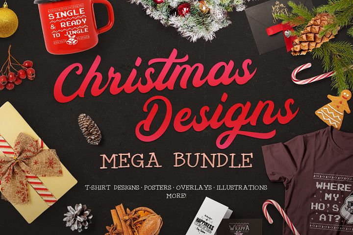 Christmas Designs Mega Bundle | Holiday SVG Cut Files Set