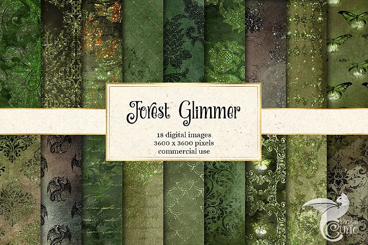 Forest Glimmer Digital Paper
