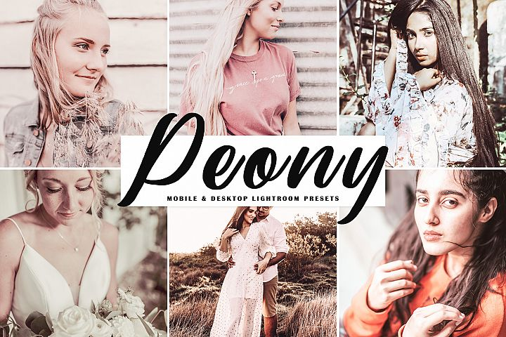 Peony Mobile & Desktop Lightroom Presets
