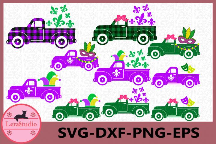 Mardi Gras Truck SVG, Truck Svg, Truck fleur de lis Svg