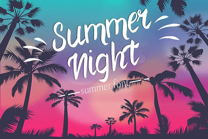 Summer Night Font