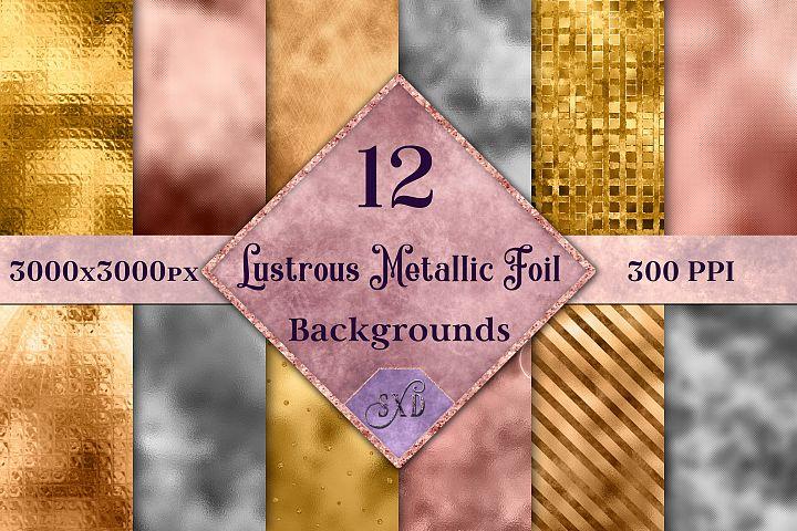 Lustrous Metallic Foil Backgrounds - 12 Image Textures Set