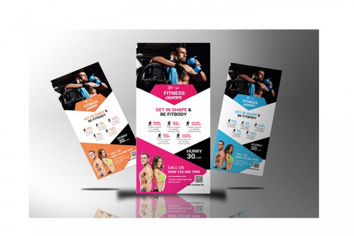 Fitness Center Roll Up Banner