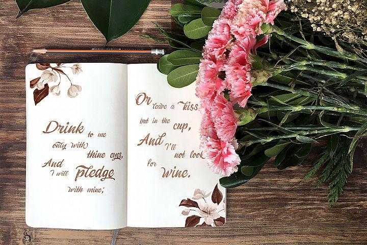 Moleskine & Flowers