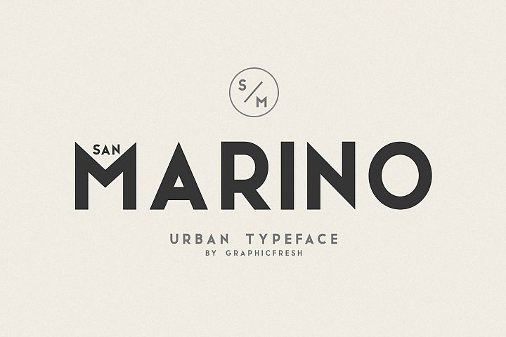 San Marino // Four Font Files