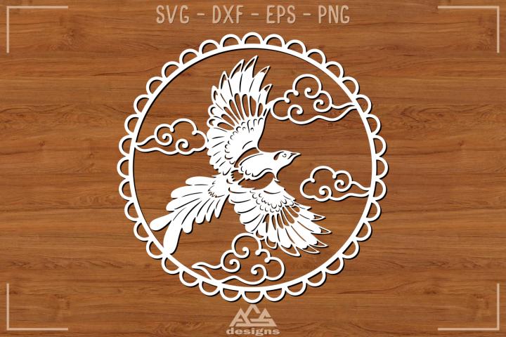 Bird Flying Papercut Svg Design