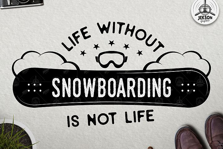 Snowboarding SVG Cut File - Winter Adventure T-Shirt Design