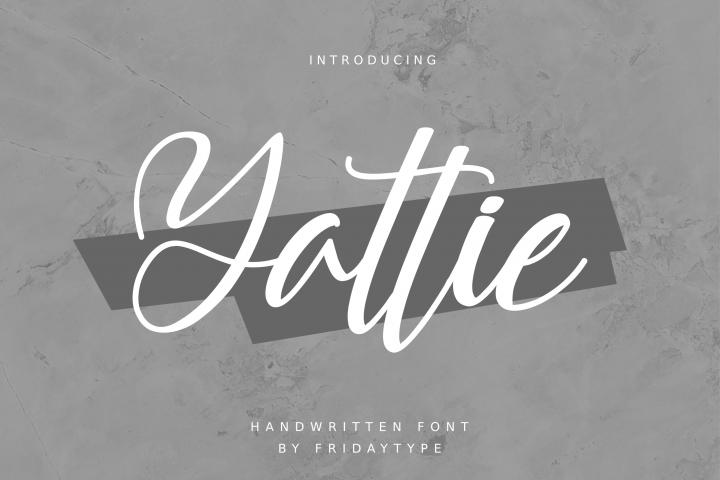 Yattie Handwritten Font