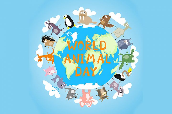 Banner: World animal day -1. Vector illustration
