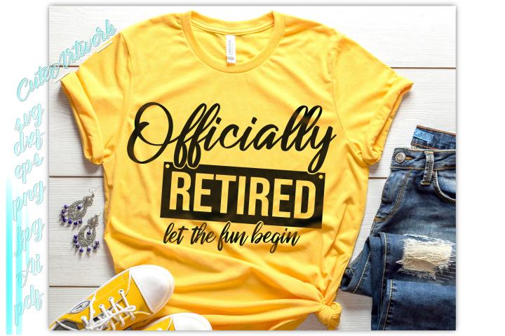 Officially retired SVG, Retired svg, retirement svg