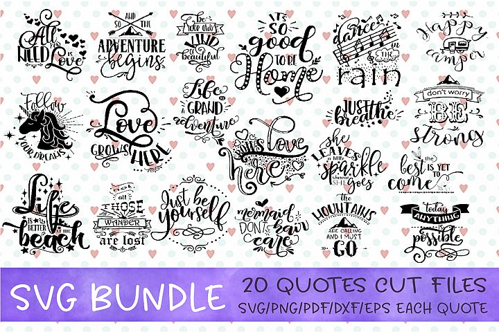 Inspirational Quote SVG Motivational Cut File Bundle Unicorn