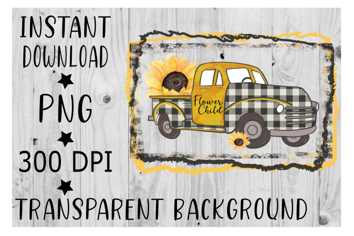 Sunflower truck Clipart PNG