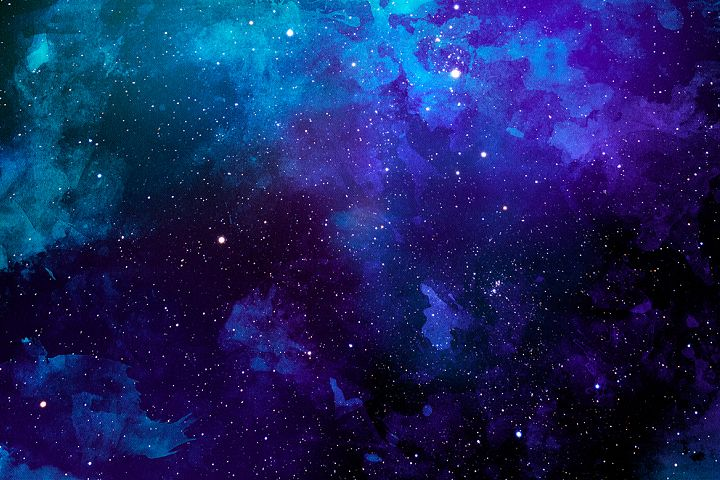 Space Watercolor Backgrounds - Free Design of The Week Design 6