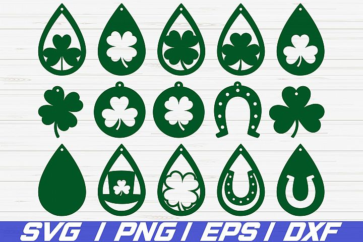 St Patricks Day Earrings SVG/ Cut File/ Cricut/ Laser Cut