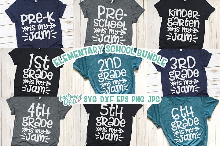 School Is My Jam SVG Bundle - Back to School Cut Files