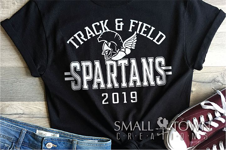 Spartans Track and Field, Spartan mascot, PRINT, CUT, DESIGN