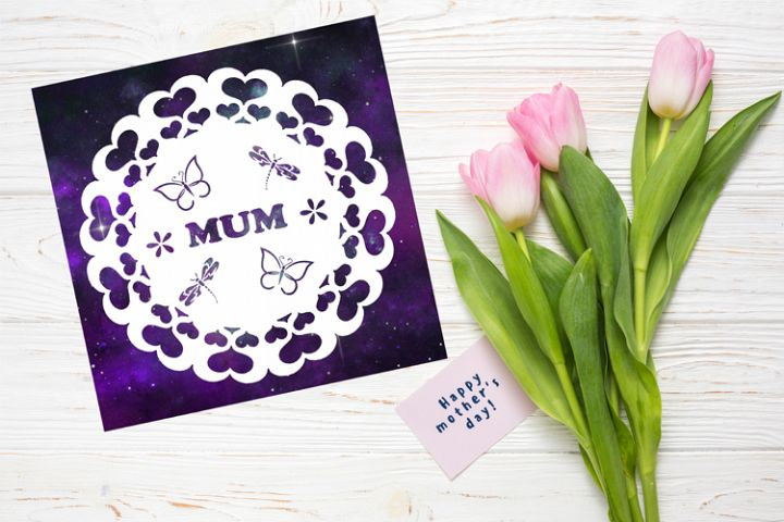 Mum Papercut Template