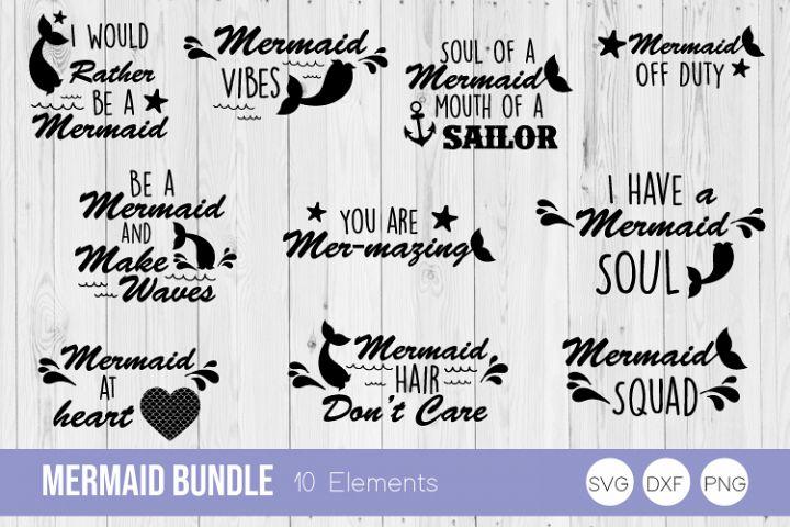 Mermaid Bundle SVG Cut Files