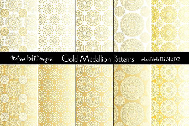 Gold Medallion Patterns