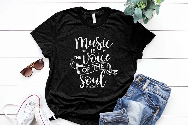 Music is the voice of the soul Printable