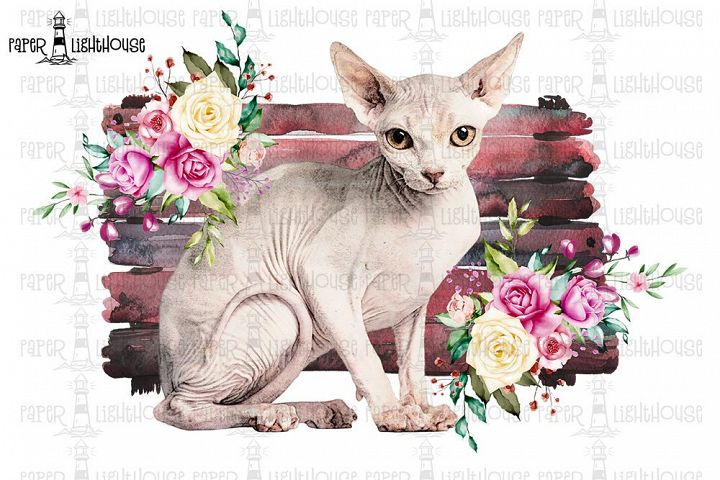 Sphynx Cat Sublimation Desing - Printable T-shirt Design