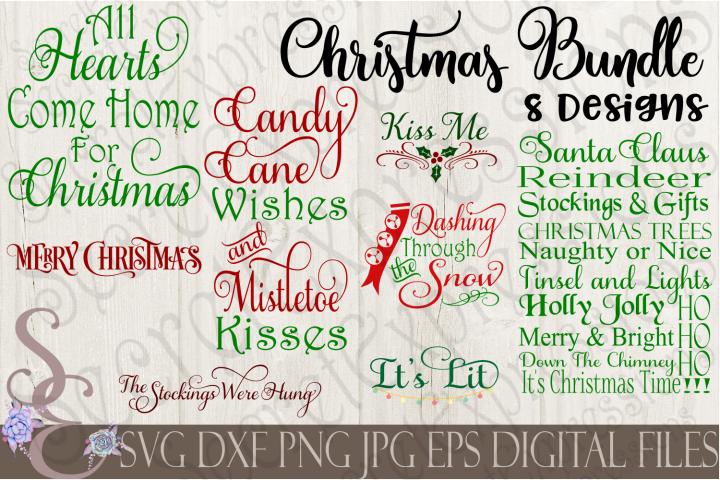 Christmas SVG Bundle 8 Designs
