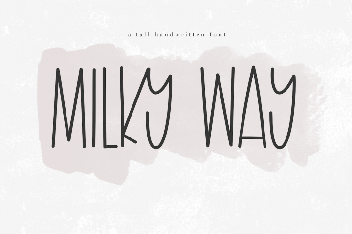 Milky Way - A Tall Handwritten Font