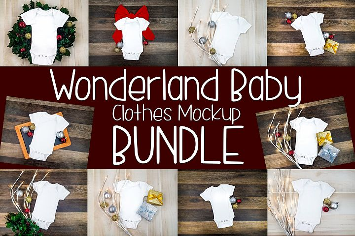 Baby Clothes Mockup | A Flat Lay Holiday Theme