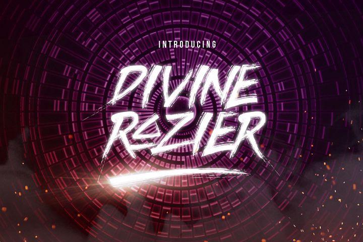 Divine Razier Font  Intro Sale!
