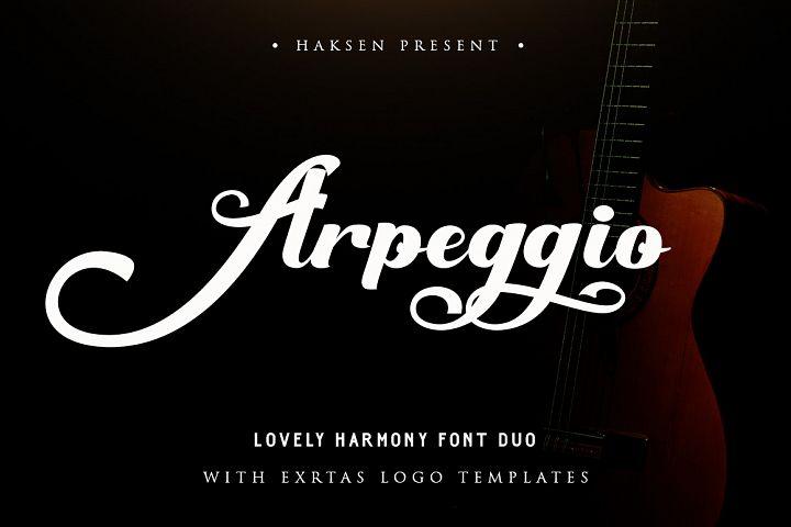 Arpeggio l Font Duo&6 Logo Templates