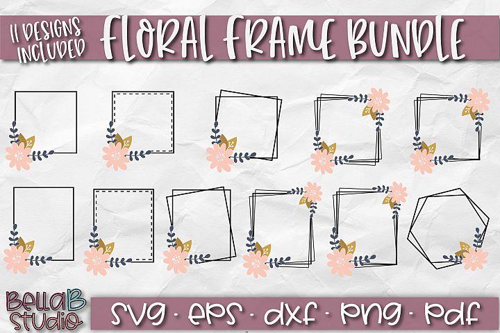 Floral Frames SVG, Square Frames SVG, Monogram Frame, Border