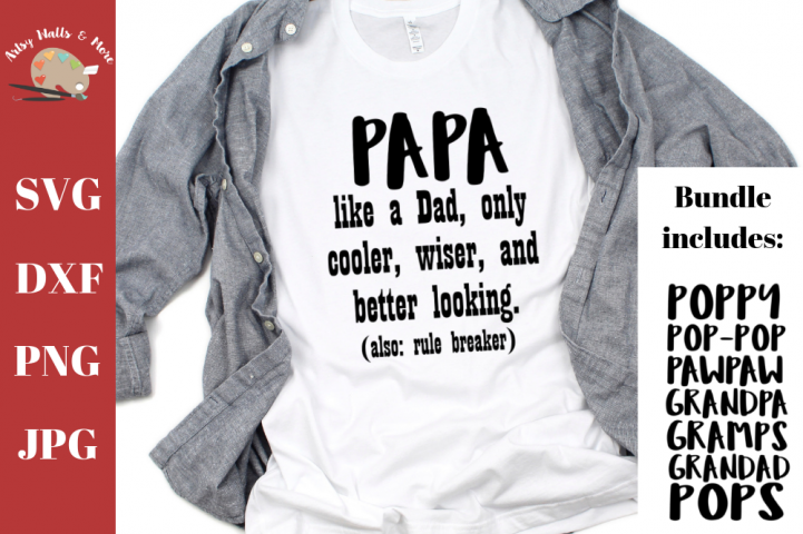 Grandpa svg bundle, Papa svg, funny grandpa shirt, grandad