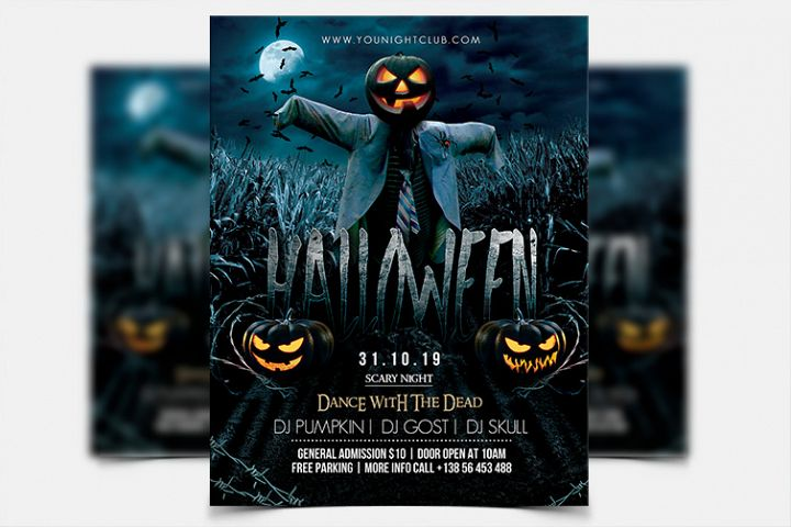 Halloween Night - PSD Flyer Template