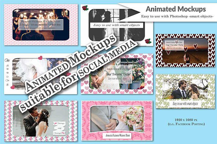 MOCKUP - Animated social media templates - Wedding theme