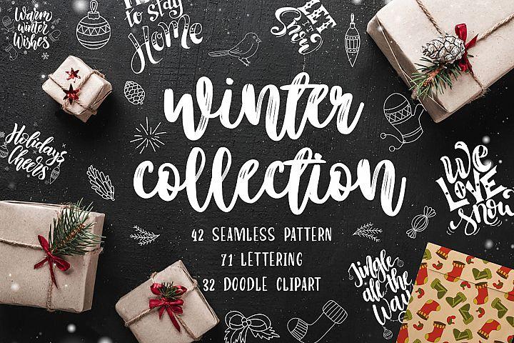 Winter Collection-LetteringClipart