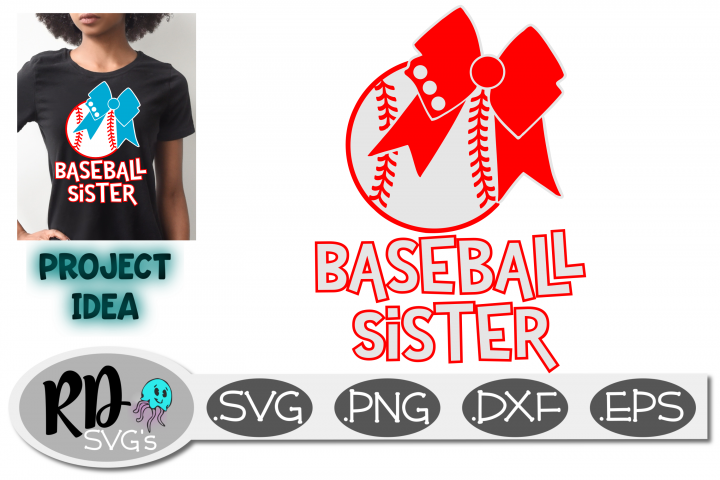 Baseball Sister - Bows and Stitches a smooth cutting SVG