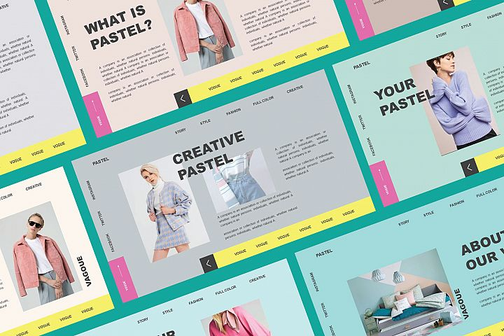 Vogue Pastel Google Slide Template
