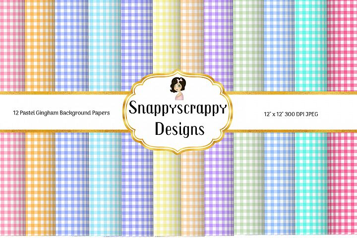 Gingham Background Papers