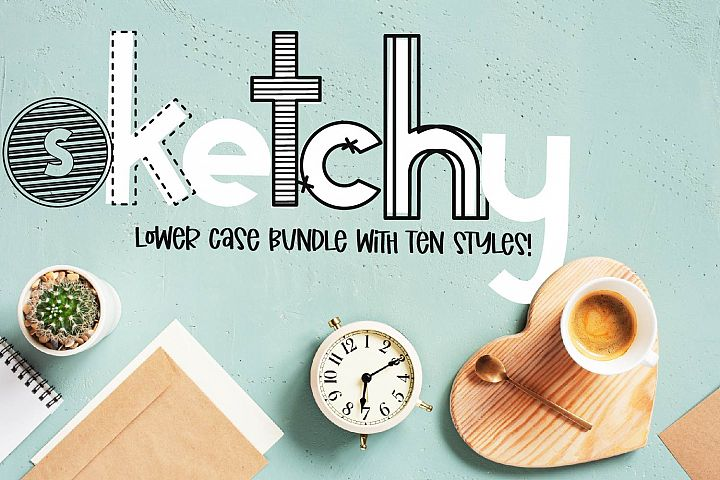 Sketchy - A Lower Case Bundle With 10 Styles!