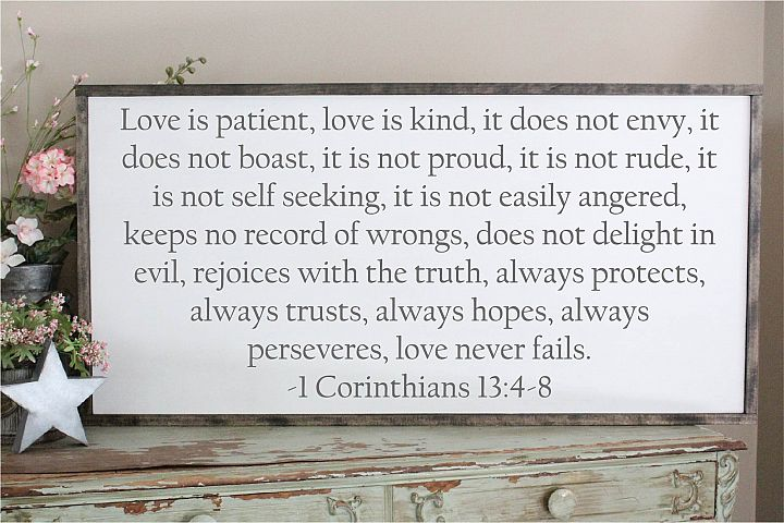 Love Is Patient SVG, Sublimation, Always And Forever Love