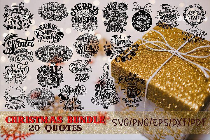 Christmas bundle svg Happy New year svg Winter Santa quote