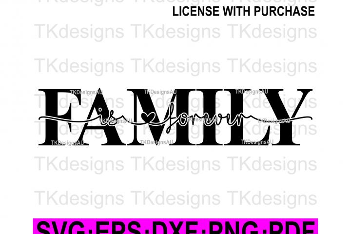 Family Is Forever Knockout SVG