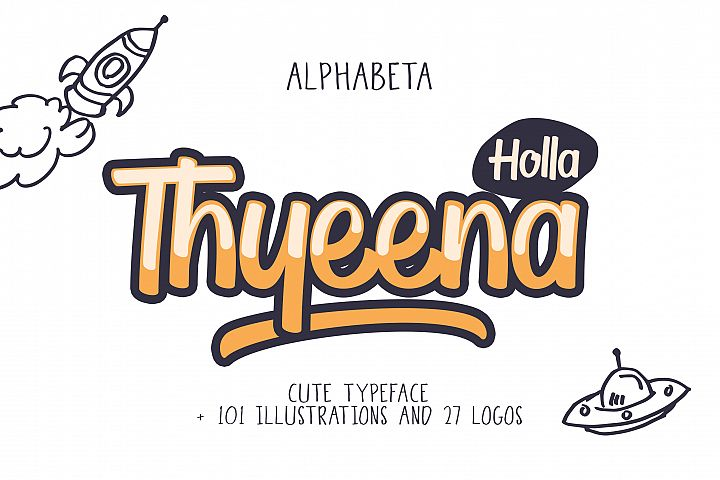 Thyeena Fonts & Illustration