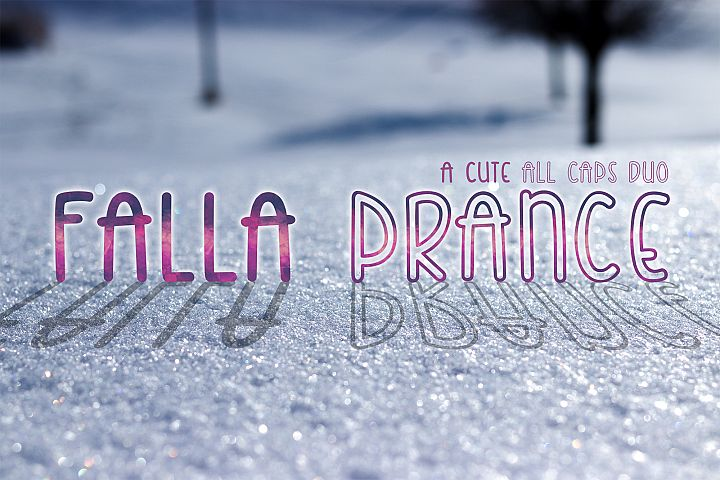 Falla Prance | A cute all caps duo font| Monoline Font