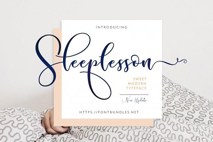 Sleeplesson Modern Script