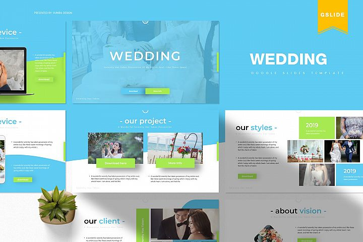Wedding | Powerpoint, Keynote, GoogleSlides Template