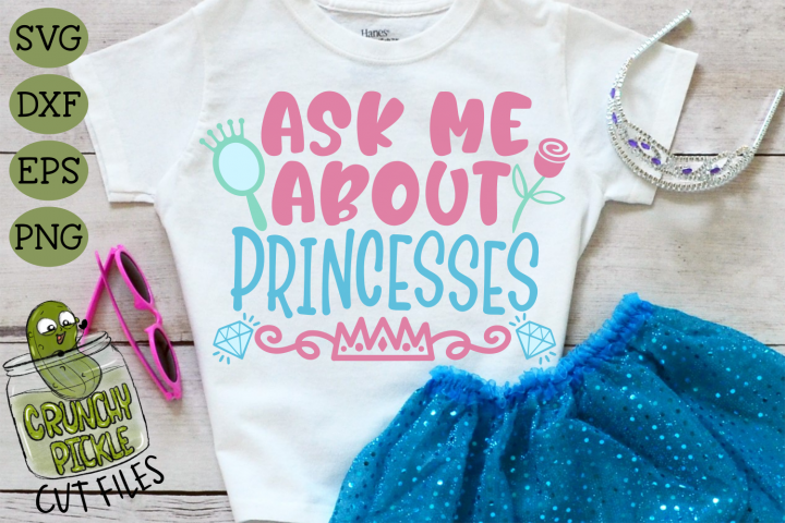 Ask Me About Princesses SVG